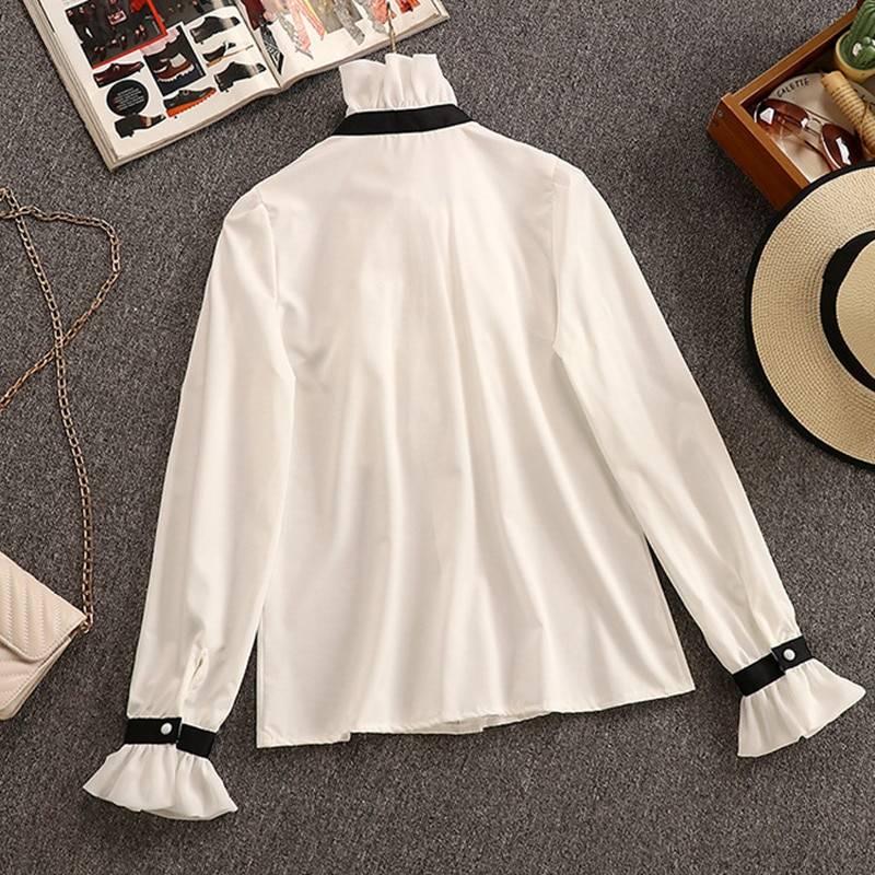 2 piece set elegant ruffles chiffon bow shirt top+double breasted plaid tweed vest dress