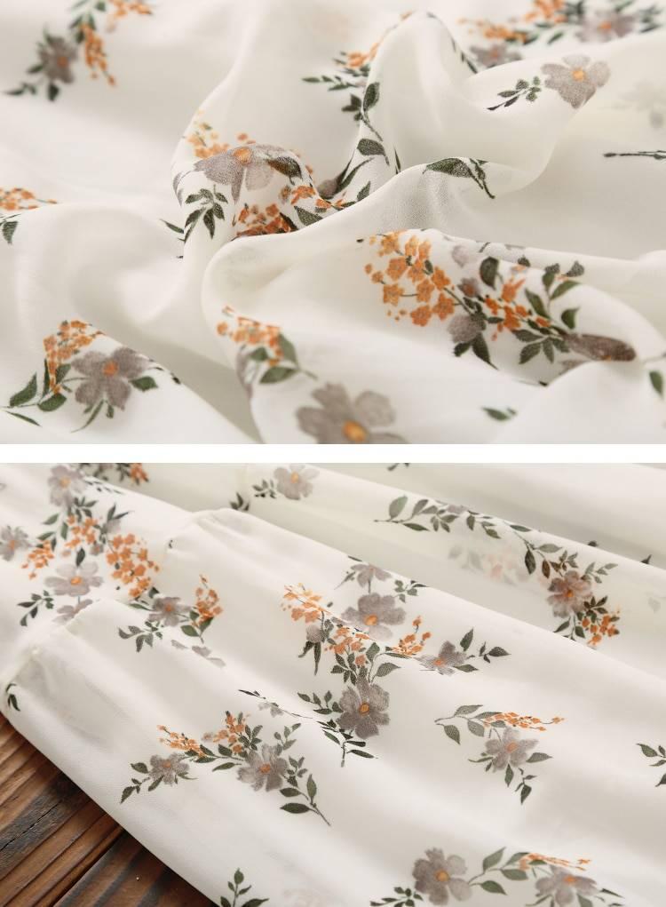 Elegant long sleeve floral print dress