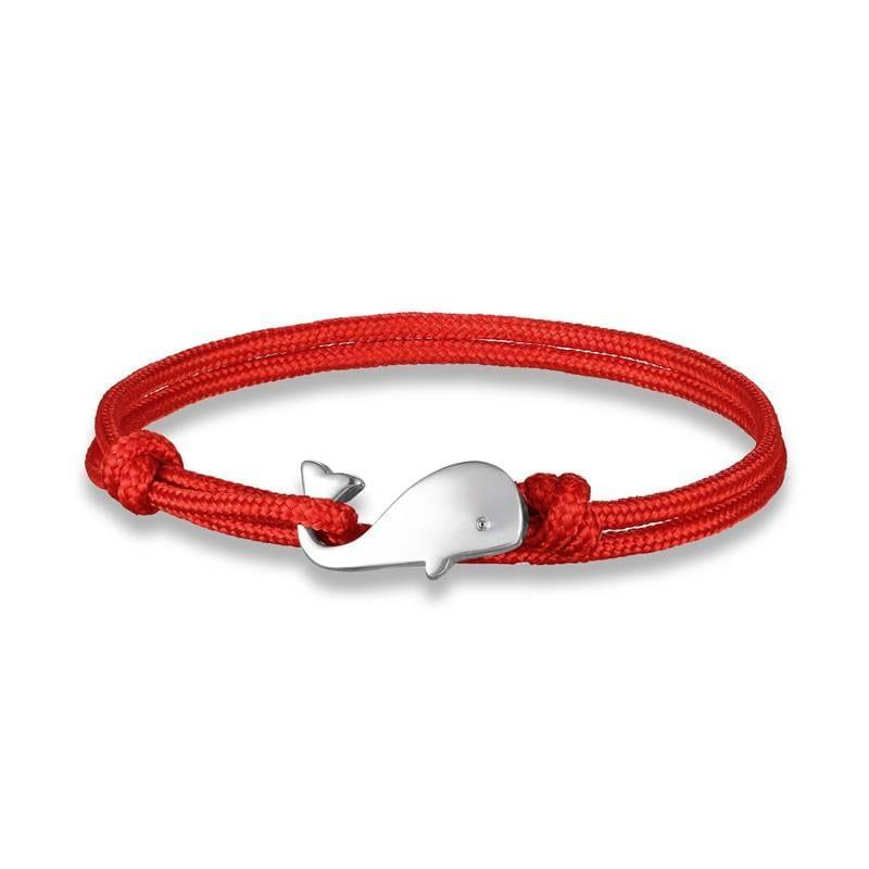 Whale tail anchor bracelet