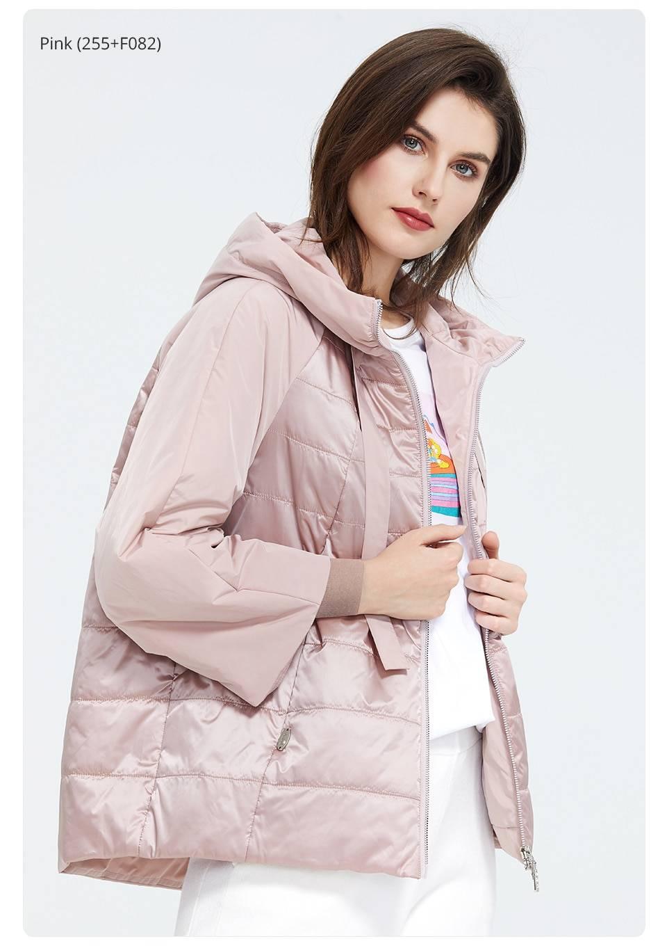 Elegant short warm thin coat jacket