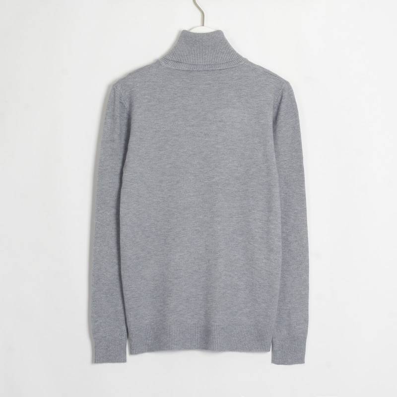 Turtleneck casual knitting long sleeve elastic sweater pullover