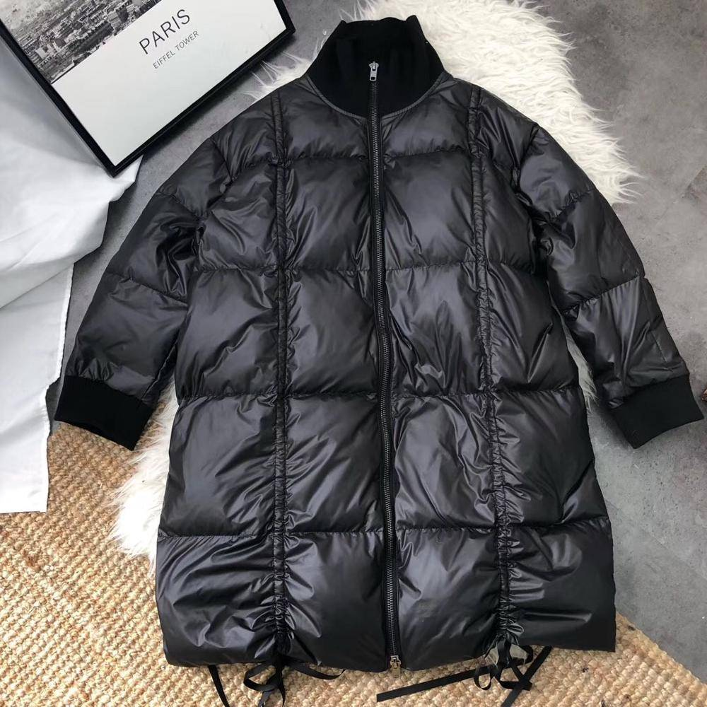 Thick warm loose down long jacket