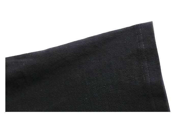 Black cotton o-neck short sleeve maxi casual dress