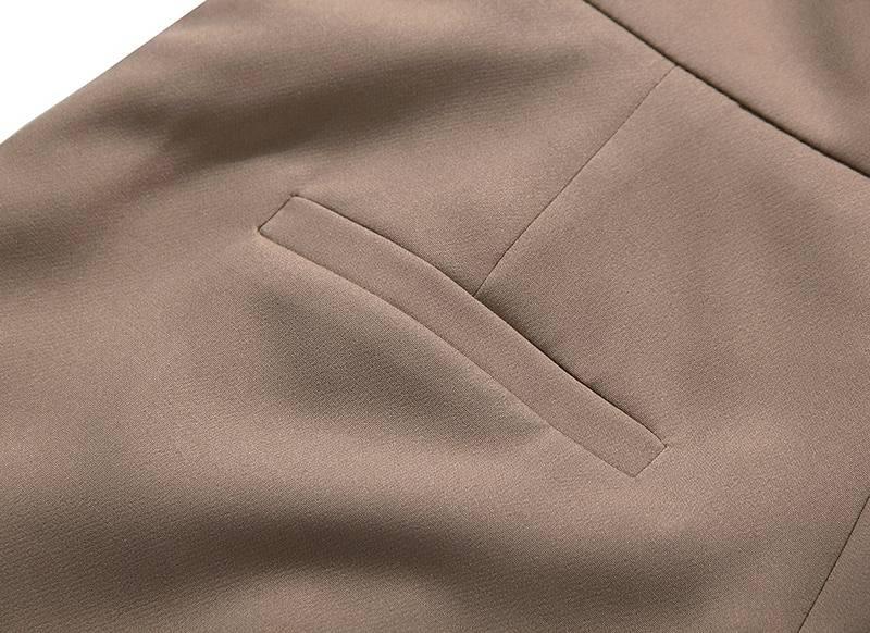 Elegant patchwork high waist asymmteircal loose shorts