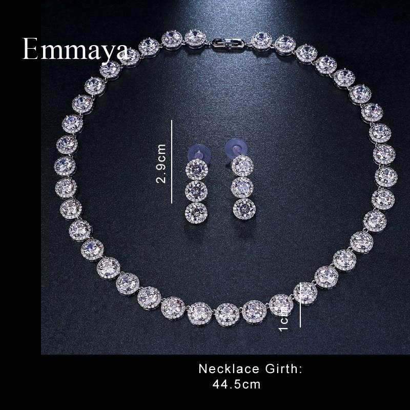 White gold cubic zircon wedding jewelry set