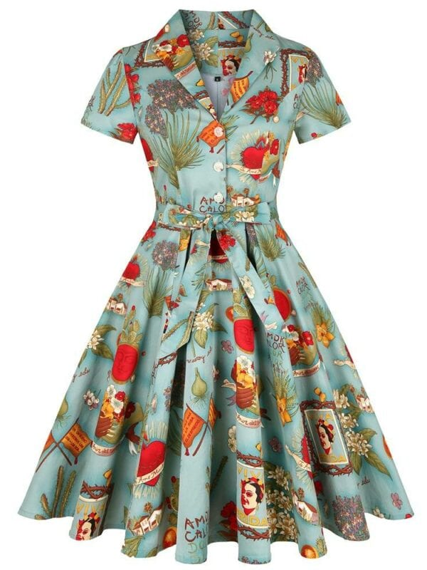 Vintage pin up party women dress