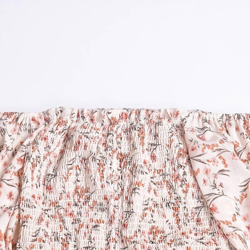 Floral print beach mini dress