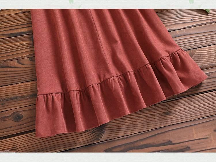 Bow long sleeve vintage dress