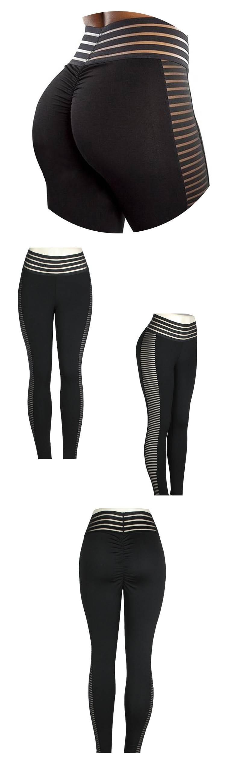 Black push up high waist fitness leggings