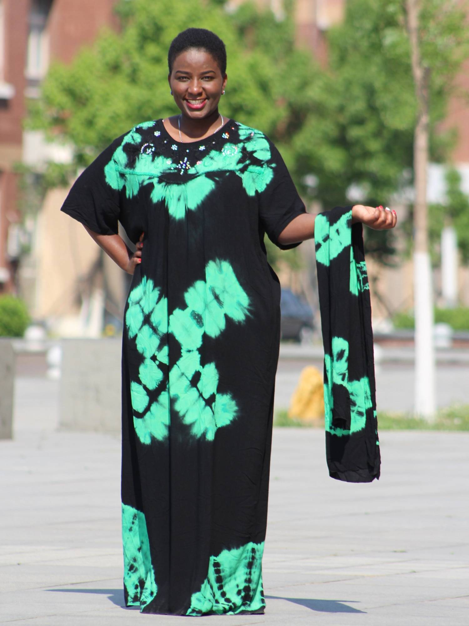 Elegant black long maxi dress