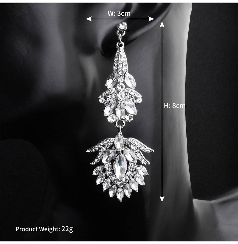 Austrian crystal long earrings