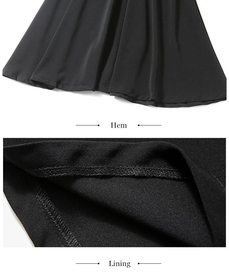 Vintage lace a-line black dress