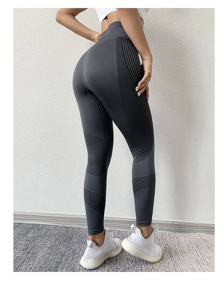High waist quick-drying stretch fitness pants leggings