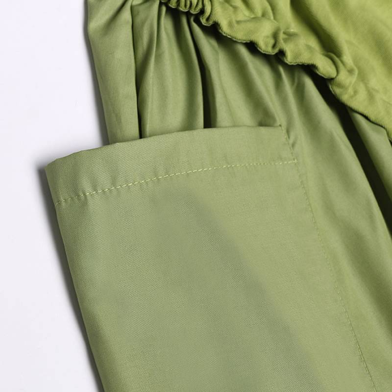 Trend splice oversized long dress