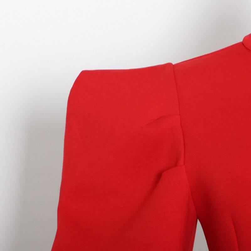 O neck puff long sleeve sweatshirt