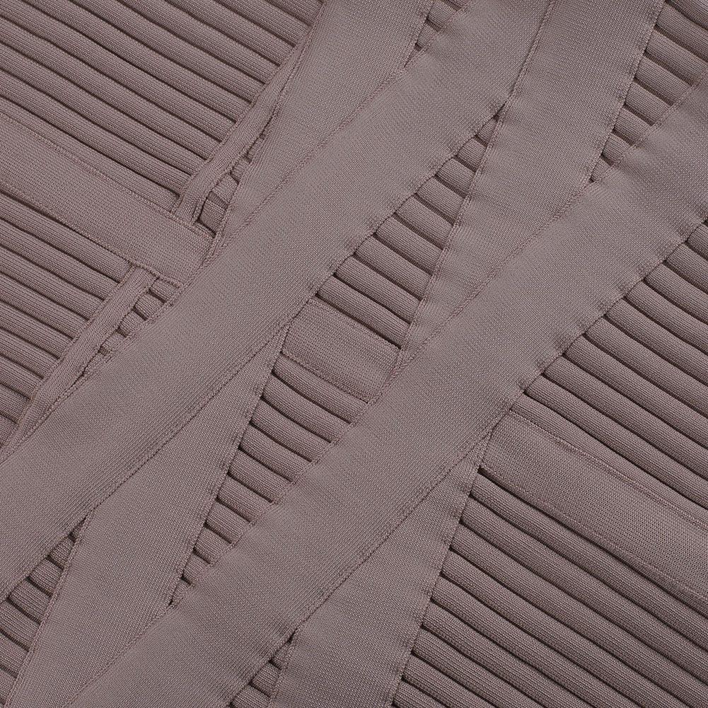 Long sleeve ribbed midi bandage dress