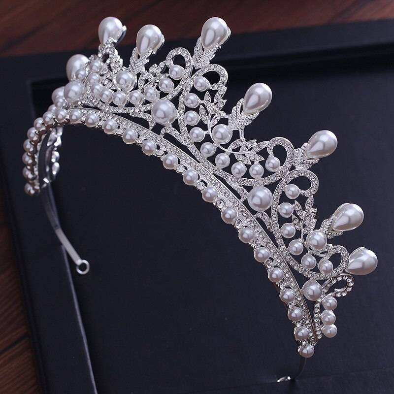 Pearl princess pageant engagement wedding hair accessories