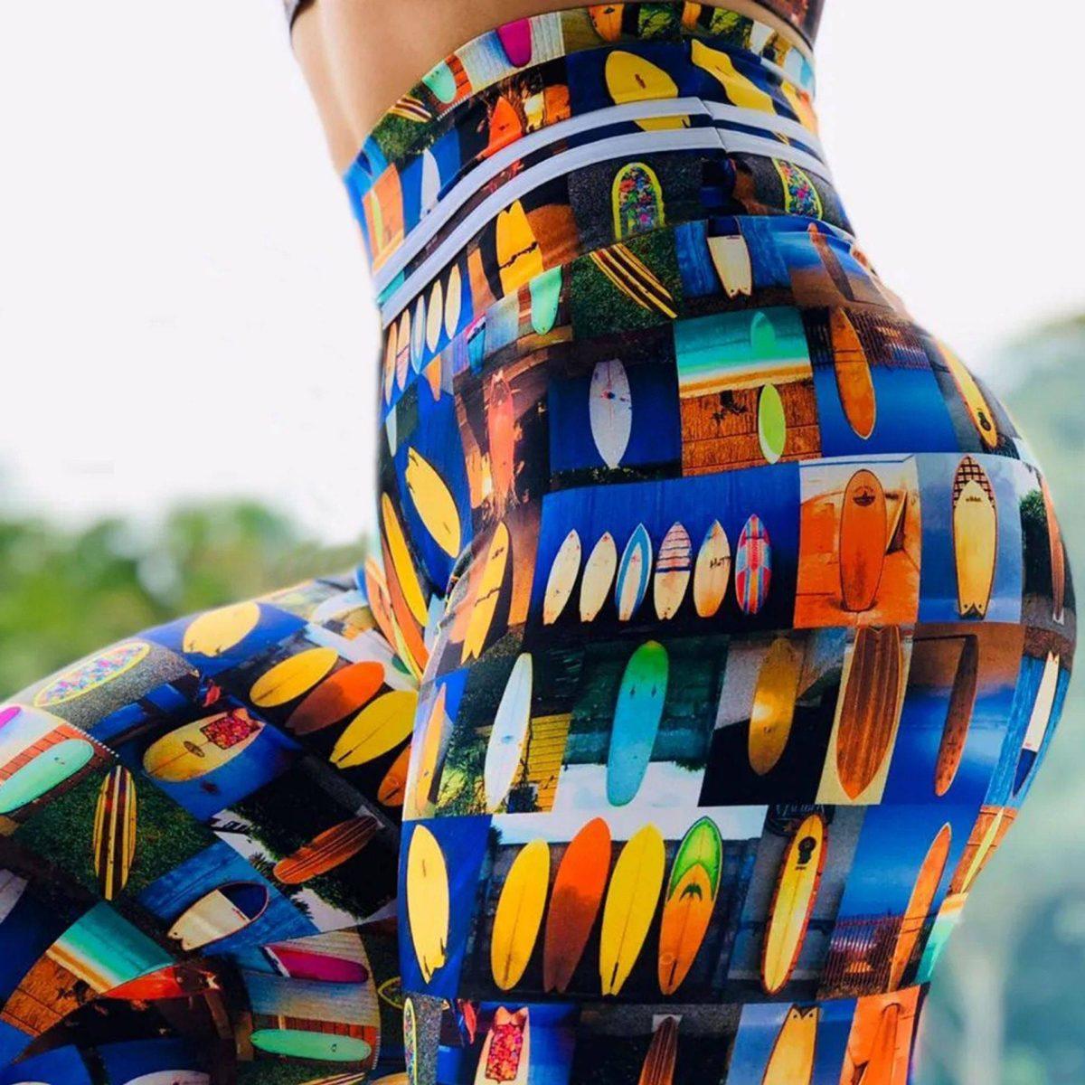 Stretch fitness running high waist push up leggins pants