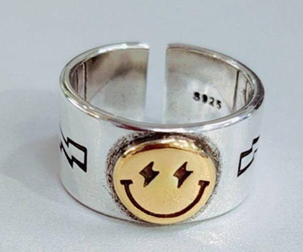 Smile face ring