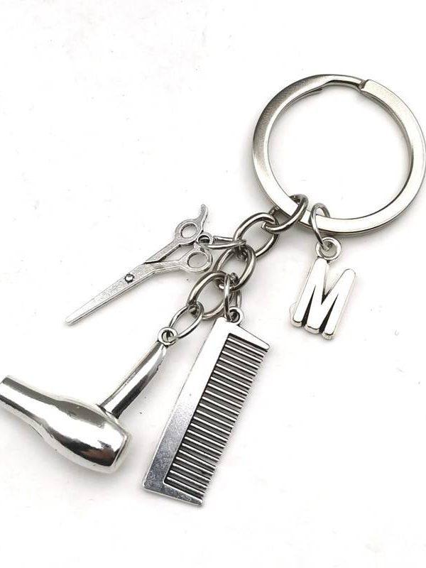 Key rings hair dryer letter keyring