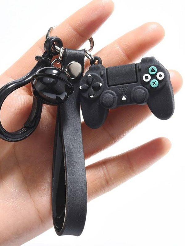 Creative video game simulation joystick model key chain ring pendant men women gift