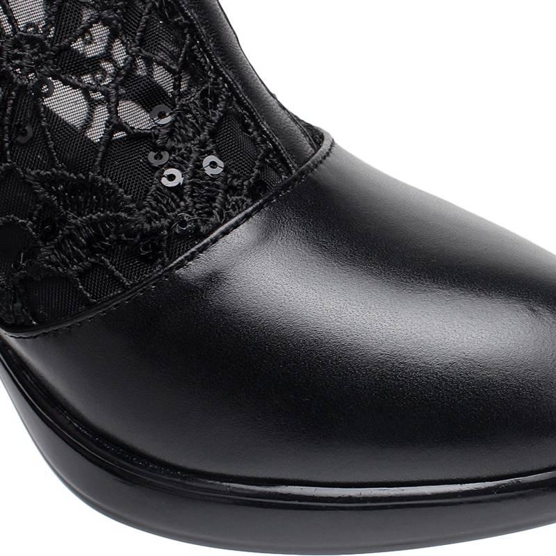Cutout mesh boots women boot