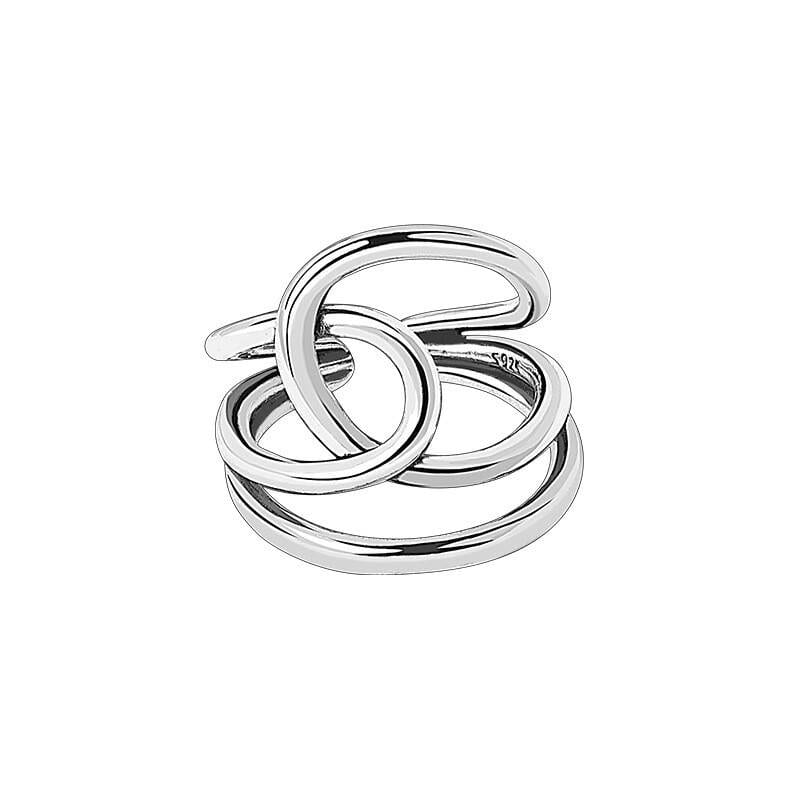 Silver smooth beautiful finger open rings