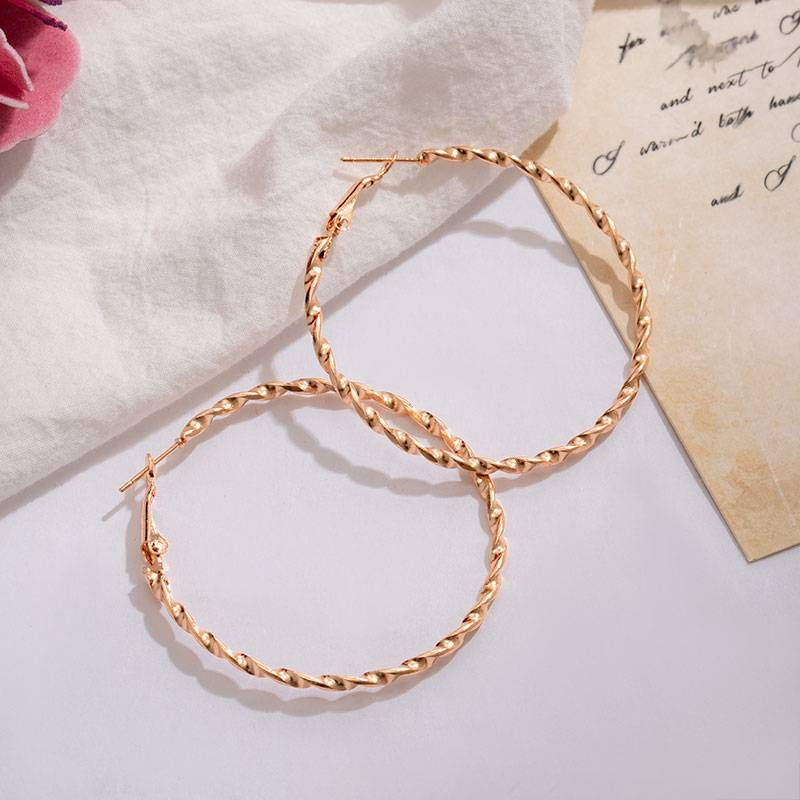 Vintage large circle hoop earrings