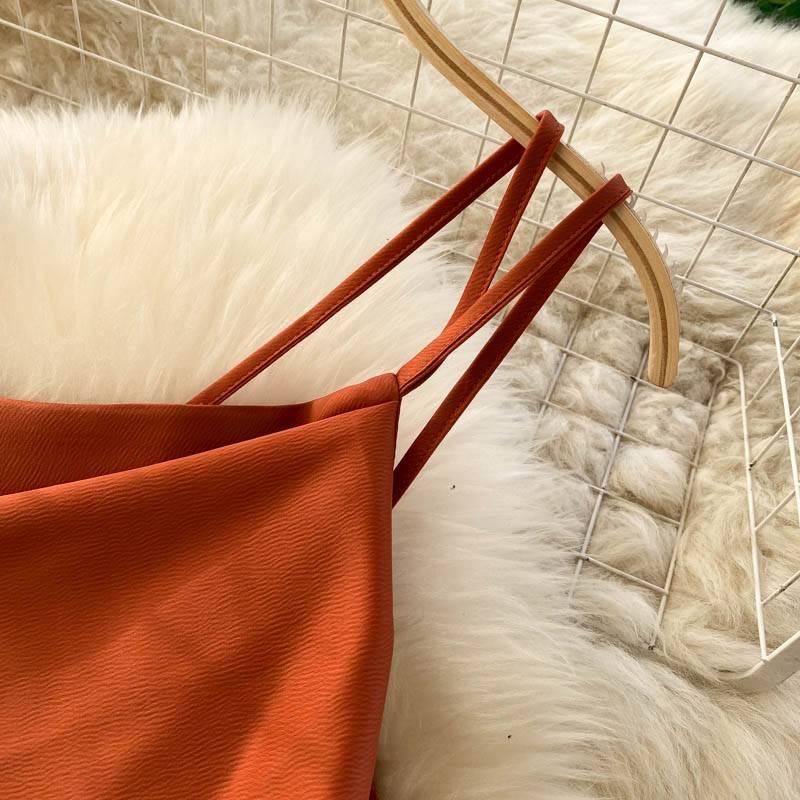 Ordifree 2021 Summer Women Satin Slip Dress Backless Spaghetti Strap Bow Tunic Belted Elegant Vacation Sexy Party Midi Dress