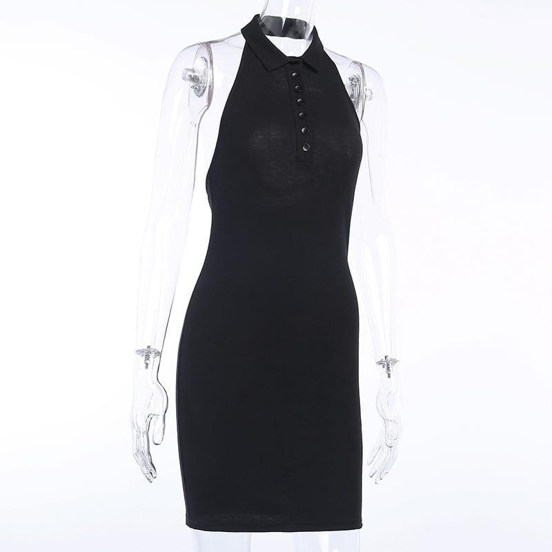 2021 White Sexy Bodycon Mini Dresses Women Halter Neck Backless Elegant Knitted Beach Dress Polo Sleeveless Summer Clubwear Y2K