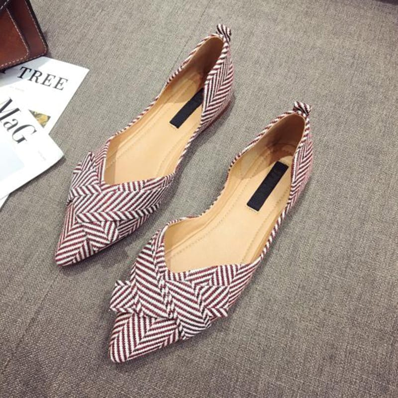 Fashion Flats for Women Shoes 2021 Spring Summer Boat Shoes Pointed toe Casual Slip-on Shoes Elegant Ladies Footwear A1394