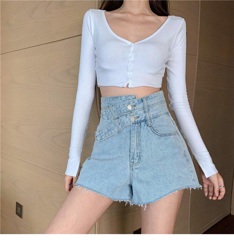 SURMIITRO S-5XL Denim Plus Size Shorts Women 2021 Newest Summer Korean Style Fashion High Waist Shorts Female Short Pants Jeans