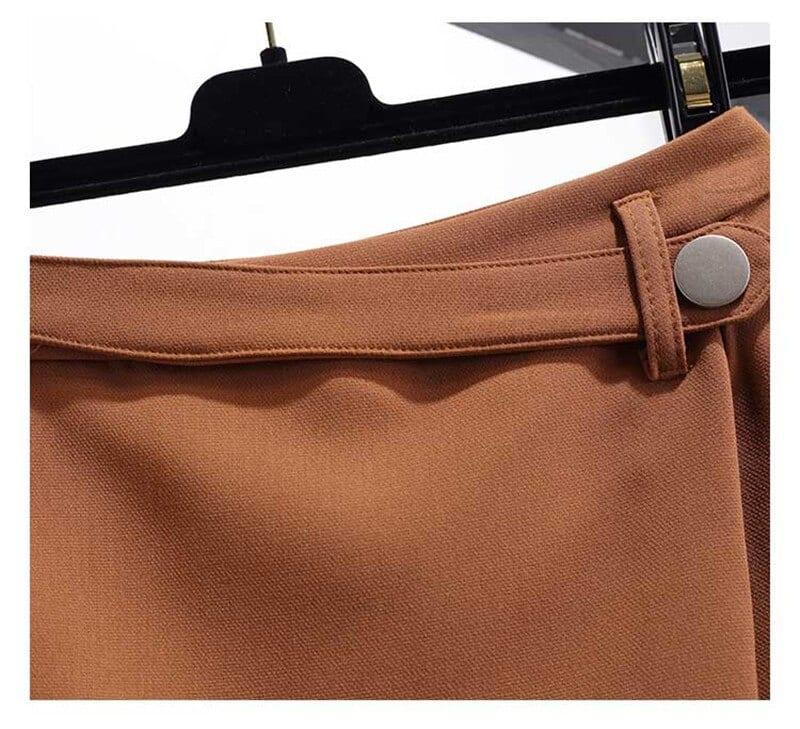 Spring Summer Shorts For Women 2021 High Waist Casual Irregular Wide Leg Short Slim Cotton Plus Size Solid Shorts Skirts