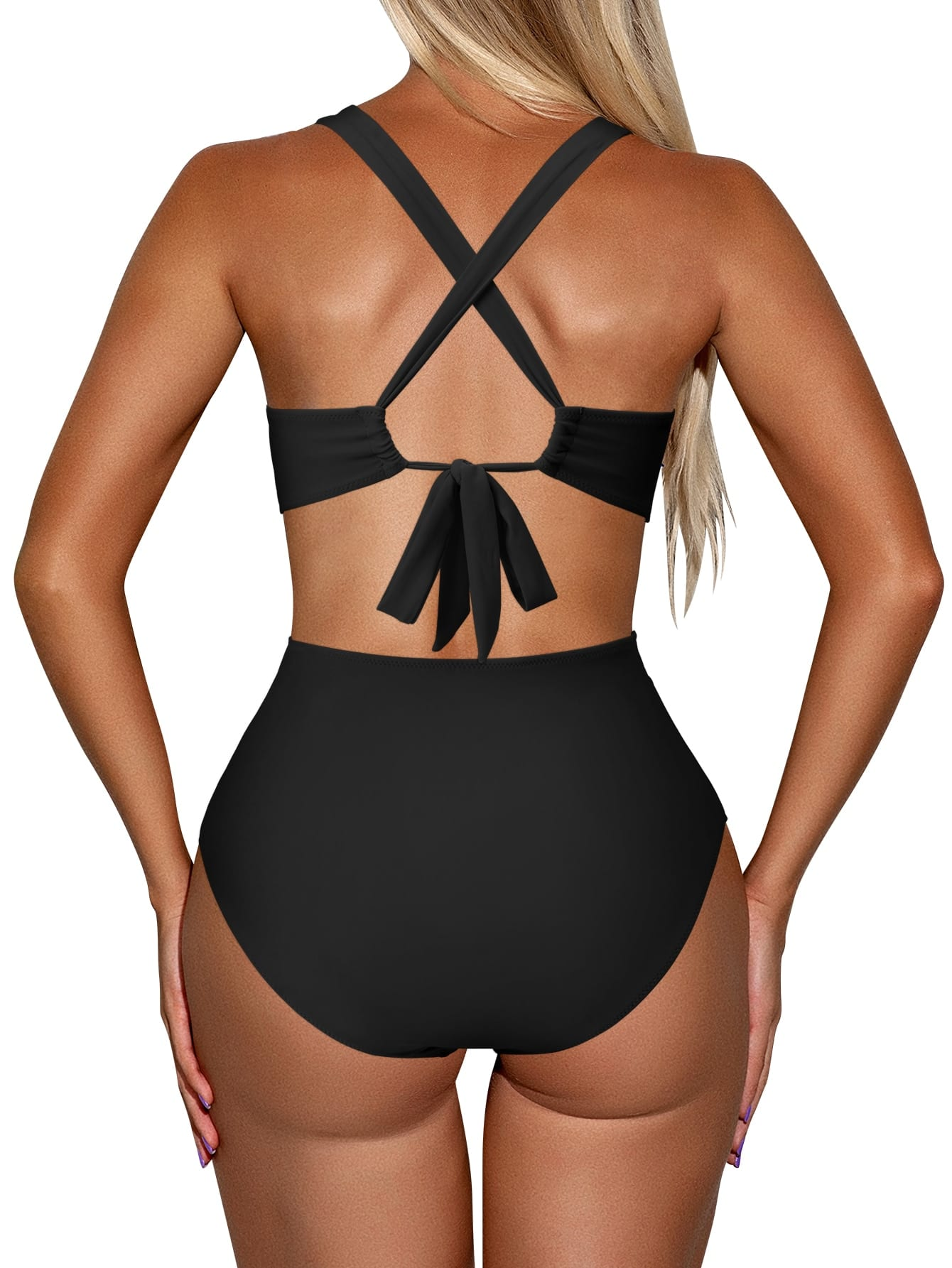 Halter Hollow Out One Piece Swimsuit