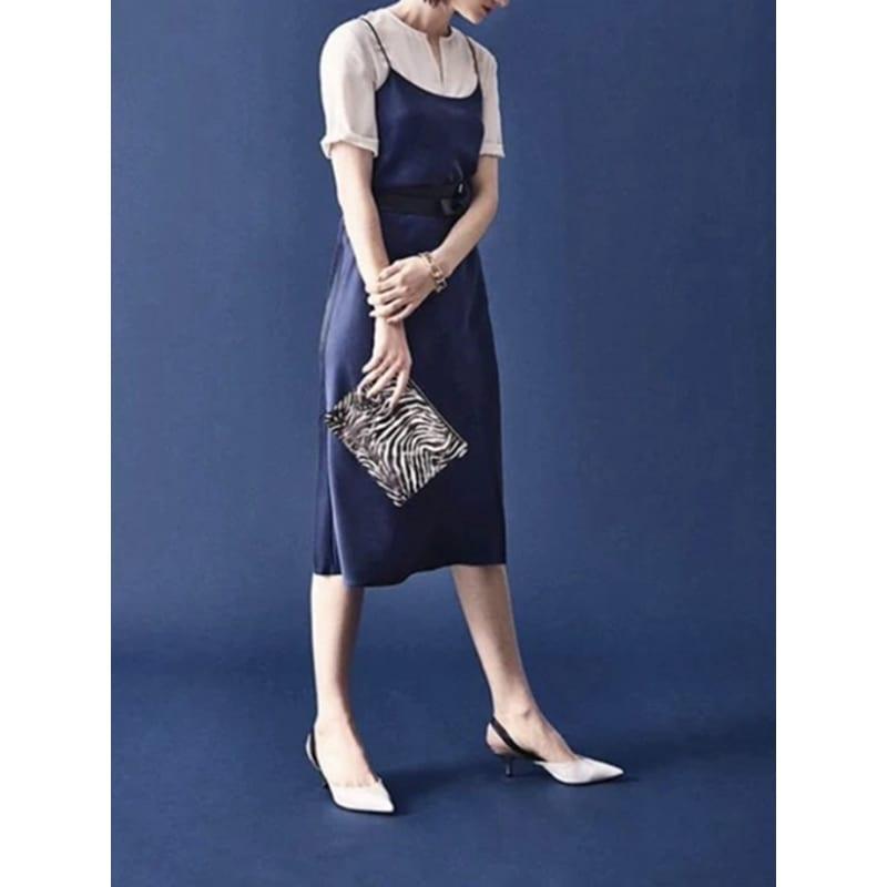 Fashion High Quality Women's Dress Summer Spaghetti Satin Long Woman Dress Very Soft Smooth Plus Size S-4XL M30262