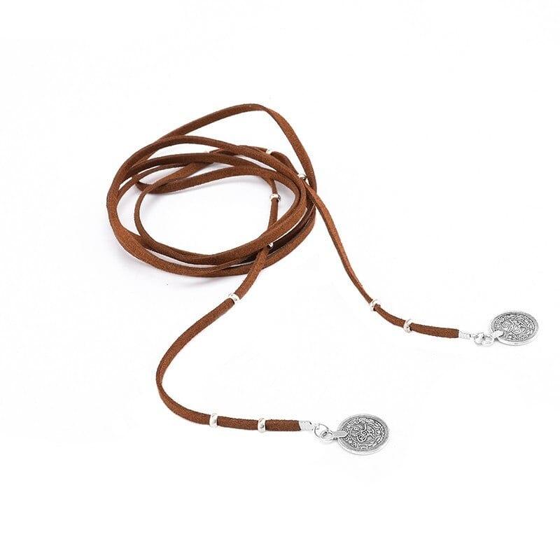 Boho Long Necklace Gothic Black Velvet Choker Maxi Necklaces Round Collier Collares Womans Necklaces Jewellery Bijoux #91199