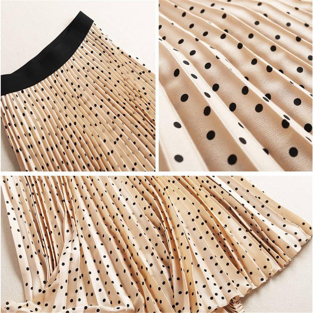 Pleated Skirts Women Spring Autumn Winter Skirt High Waist Dots Print Midi Skirts Womens Skirt Maxi Long Skirts