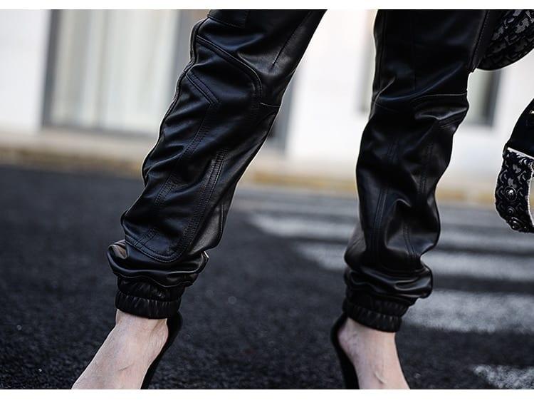 Nerazzurri Long black faux leather jumpsuit women long sleeve zipper Plus size pu leather jumpsuits for women 2020 Streetwear